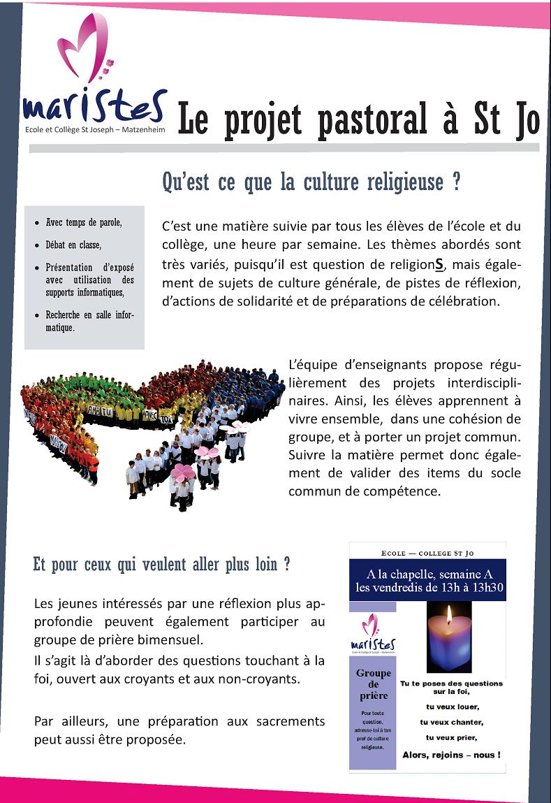 présentation projet pastoral